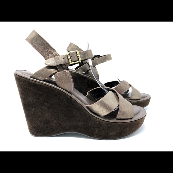 6265116600d Kork-Ease Shoes - Kork-Ease Metallic Platform Wedge Leather Size 9